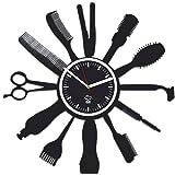 Barbershop Gentlemen's Club Hairstyles, Hairdressers Tools, Vinyl Record, Best Gift For Haircutter, Kovides Vinyl Wall Clock, Vinyl Wall Clock, Wall Clock Modern, Silent Mechanism,