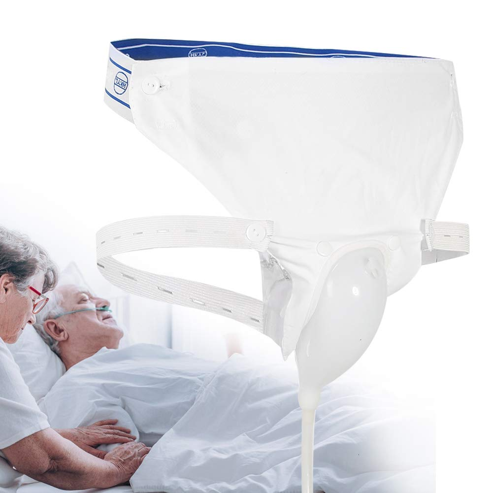 Silicone Urine Collector with 2 Urine Catheter Bags, 3 Type Optional for Man Woman Elderly(Elderly Men Type)