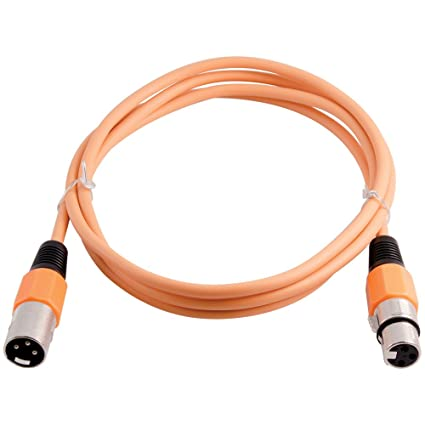 Grindhouse Speakers - LEXLR-6Orange - 6 Foot Orange XLR Patch Cable - 6 Foot