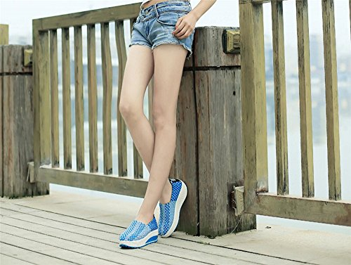 Shoes F1rst Slip Ladies Rate Comfortable Shoes mesh Shoes Blue on Breathable Woven Hand AqqIrwSZ