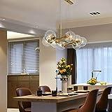 LED Light Modern Pendant Ceiling Lamps 8 Heads Restaurant Bar Simple Creative Glass Chandelier, Power Source: Three…