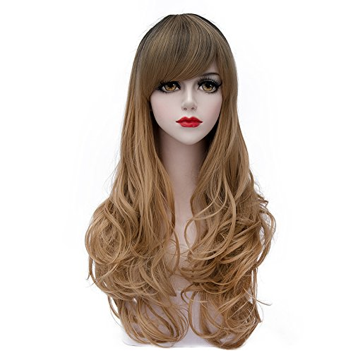 TopWigy Women's Wig Long Body Wave Hair Wigs Fashionable Lolita Heat Resistant Synthetic Costume Cosplay Wig+Wig Cap 28