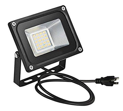 US 3-Plug LED Flood Light,chunnuan, 10W 20W 30W 50W 100W ,2800-3200K (Warm White ), IP65 Waterproof ,Aluminium Strahler,Super Bright Waterproof Security Floodlight,US 3-Plug,110V (20watts) (3 Floodlight)