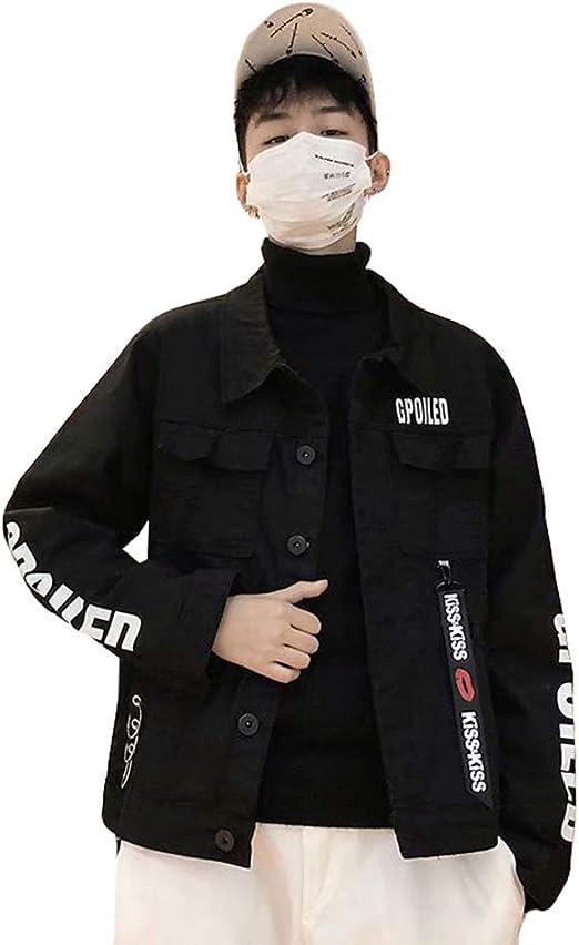 QYYメンズ ジャケット デニム ジージャン ダメージ ゆったり デニムジャケット 韓国ファッションアウター ストリート系 カジュアル 秋 大きいサイズ