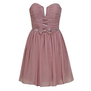 Lipsy Pixie Embellished Prom dress Dusky Pink Pixie lott Pink 8