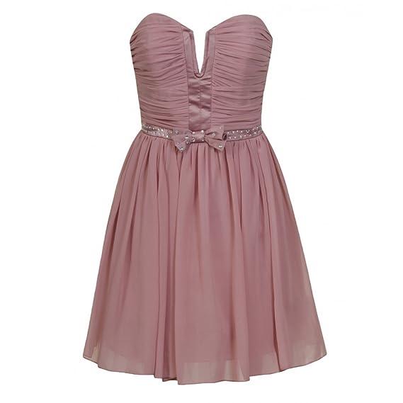 Lipsy Pixie Embellished Prom dress Dusky Pink Pixie lott Pink 8: Amazon.co.uk: Clothing