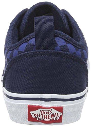 VansYt Atwood Slip-on - Zapatillas para chico Azul (Checkers)