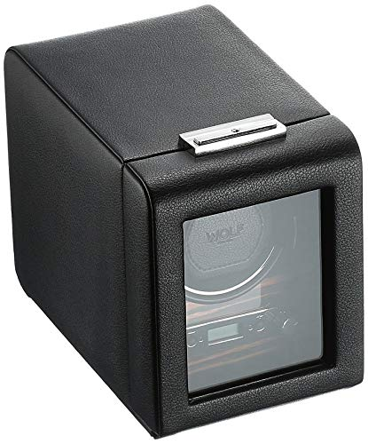 - WOLF 457056 Roadster Single Watch Winder with Cover, Black