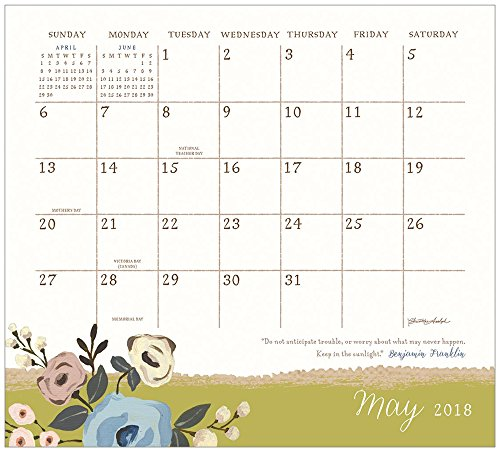 Legacy Publishing Group 2018 Magnetic Calendar Pad with Scripture, Live Simply