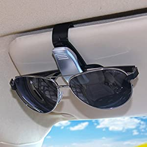 Mount & Holders - Visor Sunglass Holder Clip Glasses Sunglasses - Car Glasses Clip Card Clips Auto Vehicle Portable Eye Glasses Holder Accessories - Sunglass Clip For Car Visor - 1PCs