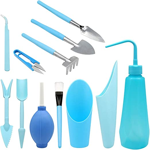 12 piezas kit de herramientas de transplantar suculentas Mini jardín Plantación de Herramientas de mano conjunto: Amazon.es: Jardín