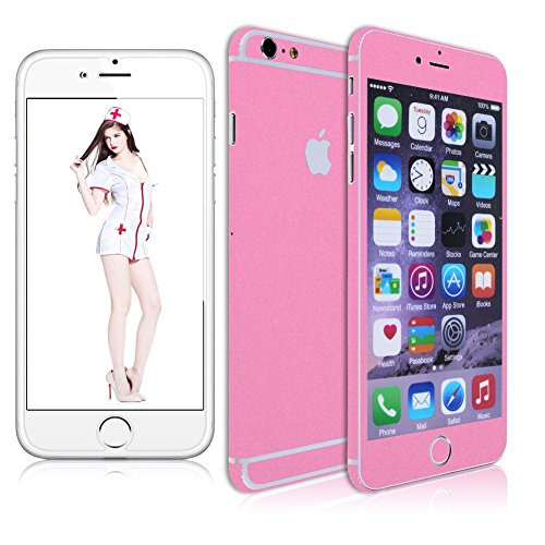 """Sanheshun For iphone 6s 6 Plus 5.5"""" Full Body Decal Skin Sticker Wrap Case Cover + FREE Film (iphone 6 Plus 5.5"""" Pink)"""