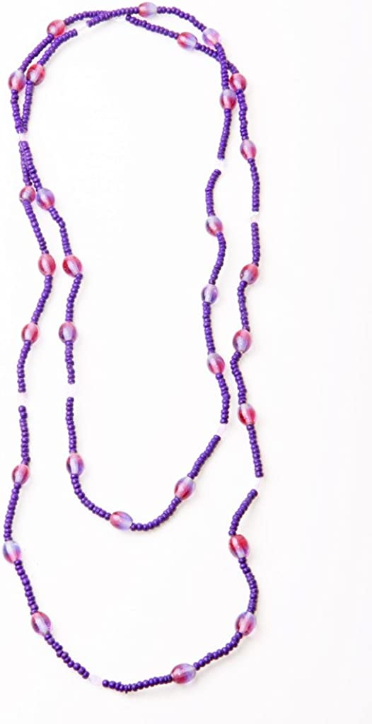 SUMMER IS HERE!! ZX19 LOVELY LONG VIOLET NECKLACE CUTE PINK-VIOLET BEADS