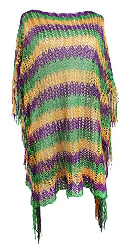JAWEAVER Mardi Gras Scarf For Women Girls Purple Green Gold Accessories -