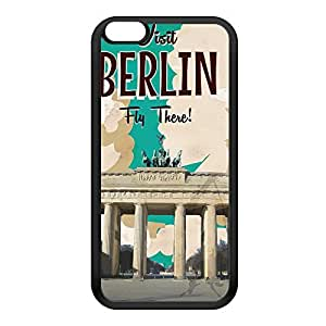 Berlin Black Silicon Rubber Case for iPhone 6 Plus by Nick Greenaway + FREE Crystal Clear Screen Protector