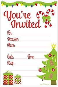 Amazon.com: Festive Christmas Party Invitations - Fill In ... - photo #45
