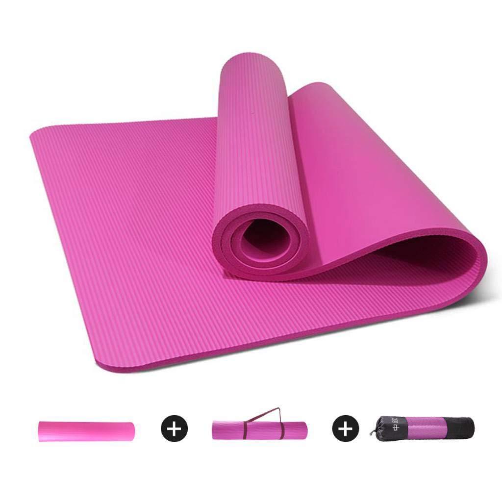 4ee3006de KYCD Yoga Tappetini Tappetini Tappetini - 10Mm Spesso Antiscivolo  Principiante Pilates di Ballo Domestico di idoneità Stuoia di Yoga 185 X 80  X 1 Cm(72 X 31 ...