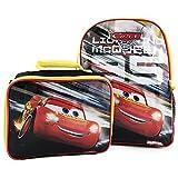 Disney Pixar Cars 3 Lightning McQueen Excellent Designed Boys School Backpack with Detachable Lunch Kit Set