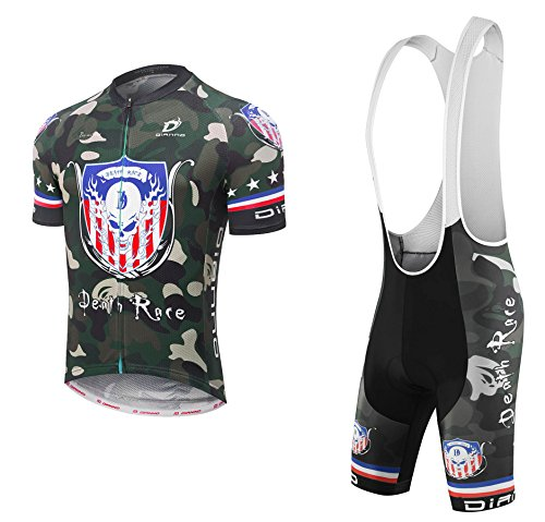 Dianno NonStop club 3.0'' Breathable Cycling Short Sleeve Jersey And Bib Short .Set clothing. 18 Styles for choose. (BT321, xxx-Large) by Dianno