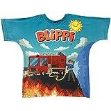 Blippi Official Child Fire Truck Firetruck T-Shirt for Kids Size 3T