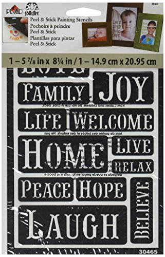 (FolkArt Peel and Stick Painting Stencil, 30465 Happy Words)