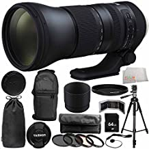 Tamron SP 150-600mm f/5-6.3 Di VC USD G2 for Canon EF 14PC Accessory Bundle - Includes 4PC Warming Filter Kit + Variable Neutral Density Filter (ND2-ND400) + Backpack + MORE