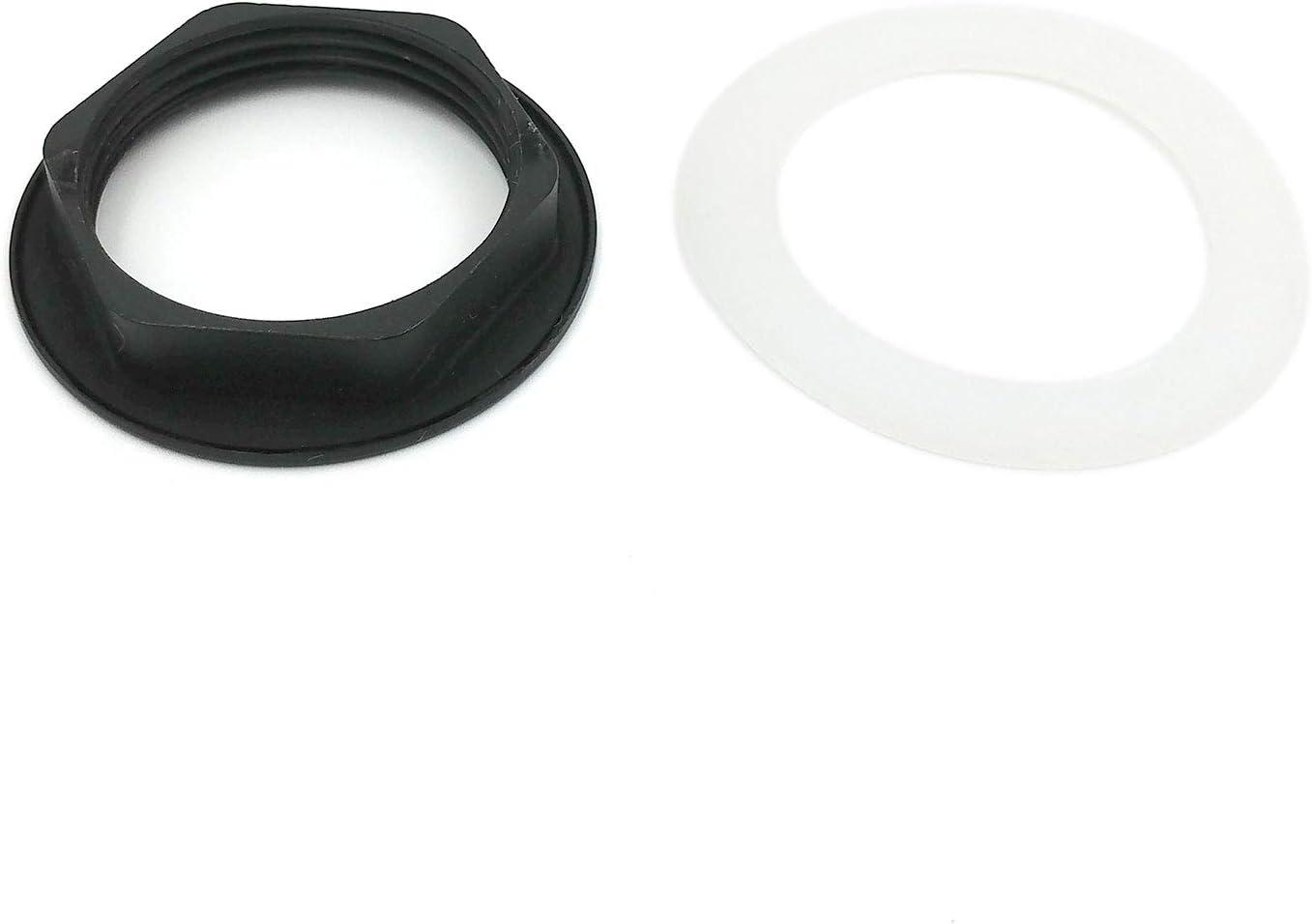 Xcel HomeTM Pot de vidage rond en laiton massif en forme de champignon//d/ôme Noir