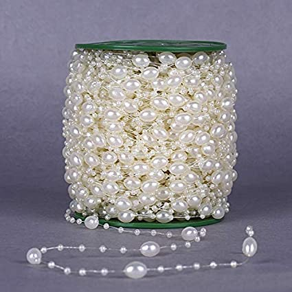 Perla cultivada imitacion Weiss 8mm boda decorativas banda banda perlas perlas cuerda 1 m c341