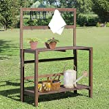 Catalan Wooden Garden Potting Bench