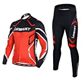 Leobaiky Spring Autumn Winter Mens Cycling Clothing Set Sportswear Suit 0utdoor Sports Bicycle