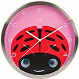 Peekaboo Wall Clock, Ladybug