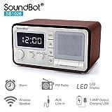 SoundBot Dual Alarm Clock FM Radio Bluetooth Wireless Portable Speaker 3W Output, 1A