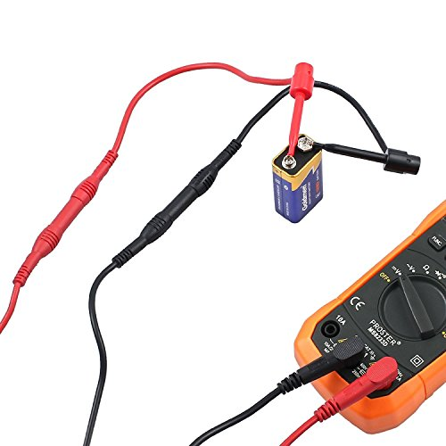 Proster Multimeter Test Leads 8-Pieces Electronic Professional Test Lead Kit Test Lead Probe Multimeter Accessory Kit Includes Lead Extensions Test Probes Mini Hooks Alligator Clips by Proster (Image #4)