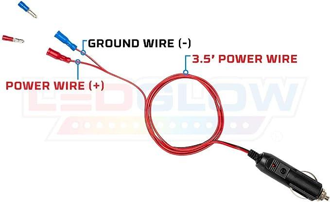Amazon.com: LEDGlow 12 Volt Cigarette Lighter Power Adapter - Quick Connect  Crimp Connectors - Easy To Plug In: AutomotiveAmazon.com