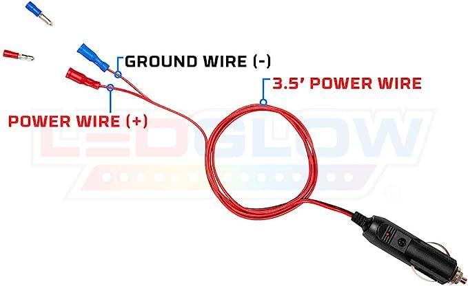 [EQHS_1162]  Amazon.com: LEDGlow 12 Volt Cigarette Lighter Power Adapter - Quick Connect  Crimp Connectors - Easy To Plug In: Automotive | Device For Car Cigarette Lighter Wiring Diagram |  | Amazon.com