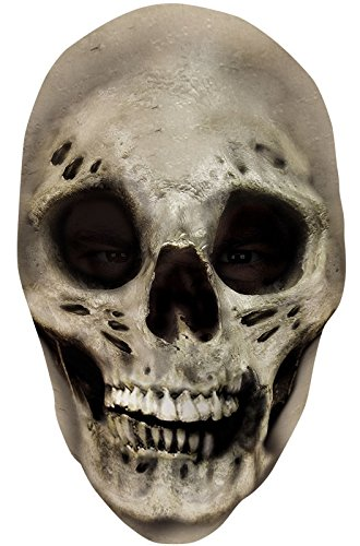 [Skinned Alive Skull Skeleton Nylon Full Halloween Mask] (1980s Movie Character Costumes)