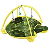 UEETEK Pet Dog Cat Tent,Multifunctional Foldable Playing Tent Toys Pet Bed House,Ideal for Indoor or Outdoor Use,20.5 x 20.5 x 13.8 inch(L x W x H)(Tortoise)