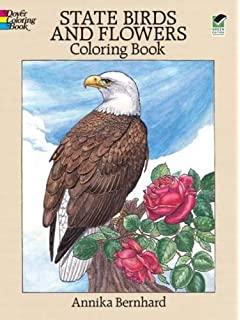 state birds and flowers coloring book - Bird Coloring Book