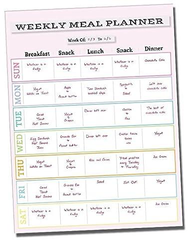 Dry Erase Meal Planner Calendar - 14.5