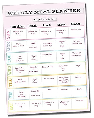 AmazonCom  Dry Erase Meal Planner Calendar   X  Inch