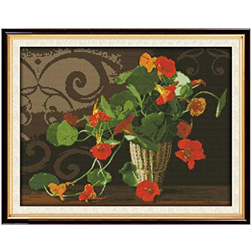 - Zamtac The Morning Glory Counted Cross Stitch 11CT 14CT Cross Stitch Set Wholesale Flower Cross-Stitch Kit Embroidery Needlework - (Cross Stitch Fabric CT Number: 14CT Blank Canvas)