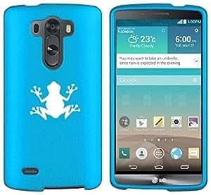 LG G3 Vigor Snap On 2 Piece Rubber Hard Case Cover Frog (Light Blue)