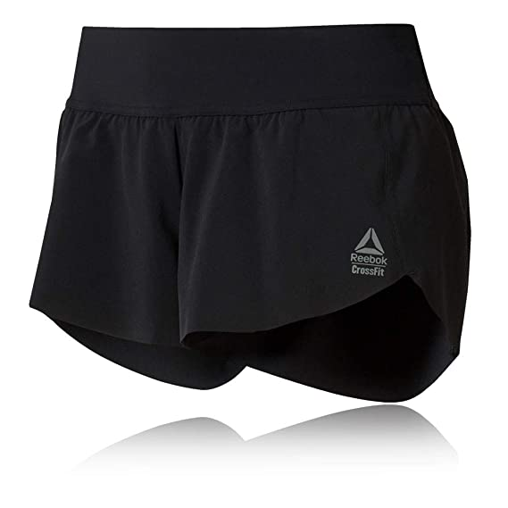 e16c1e8344d97 Reebok RC Women s Training Shorts - SS19 Black  Amazon.co.uk  Clothing