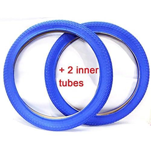 """Une paire (2pneus) de RDK 50,8x 5cm (20"""" x 1.95"""") coloré pour BMX Pneus + chambres à air, Rouge, Noir, Bleu, Rose, Violet, Orange, Vert, Blanc, Jaune"""