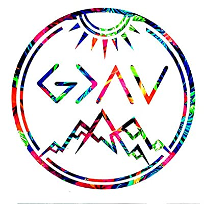 God is Greater Than My Highs and Lows Car Window, Laptop, Tumbler Decal