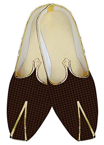 Schuhe ethnischen INMONARCH Hombres Kontrollen MJ016092 Braun Hochzeit Ig1q6g