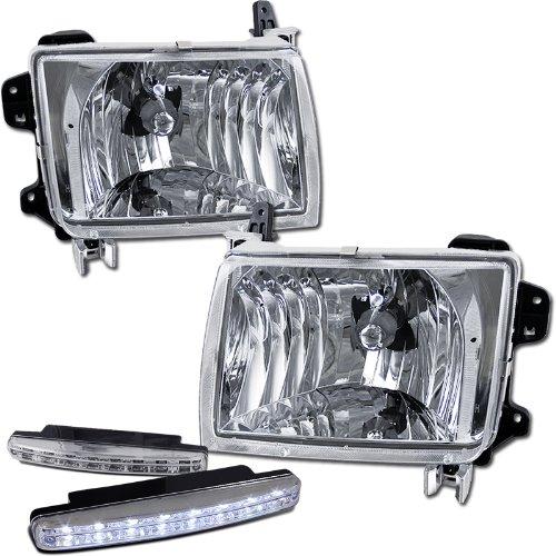 Amazon 1998 2000 Nissan Frontier Headlights Lamps 8 Led Fog Bumper Light Automotive