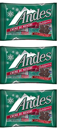 Andes Creme De Menthe Mints Festive Christmas Holiday Candy, Pack of 3, 9.5 oz Christmas Mint