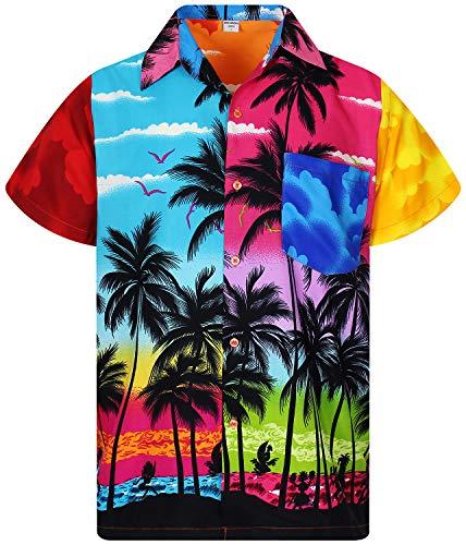 - V.H.O. Funky Hawaiian Shirt, Shortsleeve, Mondy Beach, Multicoloured, 3XL