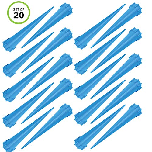 (Evelots Plant/Flower Watering Tall Spikes-Plant Food-Bottle Screw-No Tool-Set/20 )